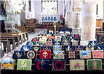 TF0920 : Kneelers in the Abbey Church at Bourne, Lincolnshire by Rex Needle