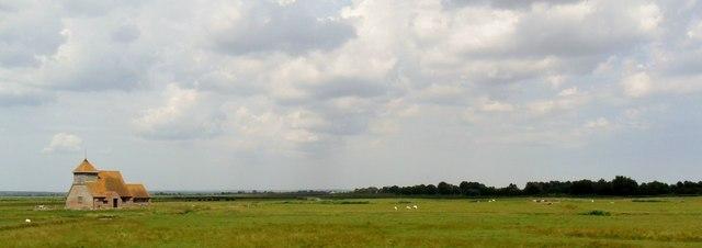Romney Marsh by Fairfield Church