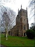 TL2549 : Tower of St John the Baptist, Cockayne Hatley by Bikeboy