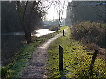 SK5702 : Towpath along the Grand Union Canal by Mat Fascione