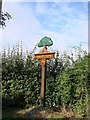 TL9265 : Thurston village sign by Adrian S Pye