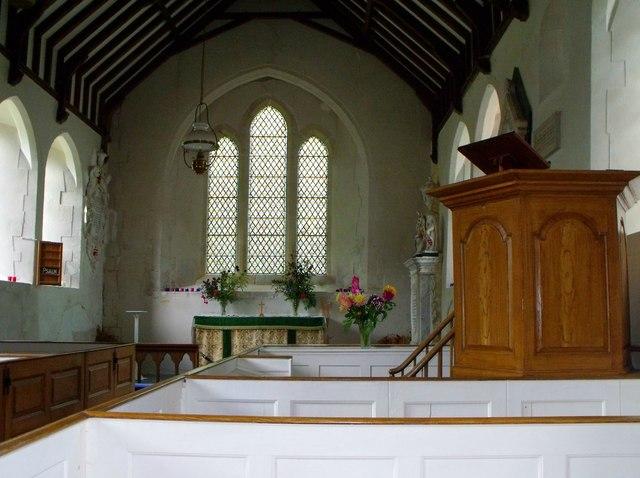 Interior of St. Peter's, Folkington
