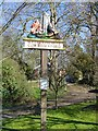 TM1266 : Wetheringsett cum Brockford village sign by Adrian S Pye