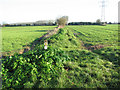 TG3103 : Footpath through fields south of Rookery Farm by Evelyn Simak