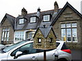 NY7146 : Ornamental Bird House, Ruth Lancaster James Cottage Hospital, Alston by Andrew Curtis