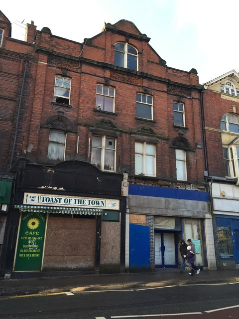 Tunstall: closed shops on High Street