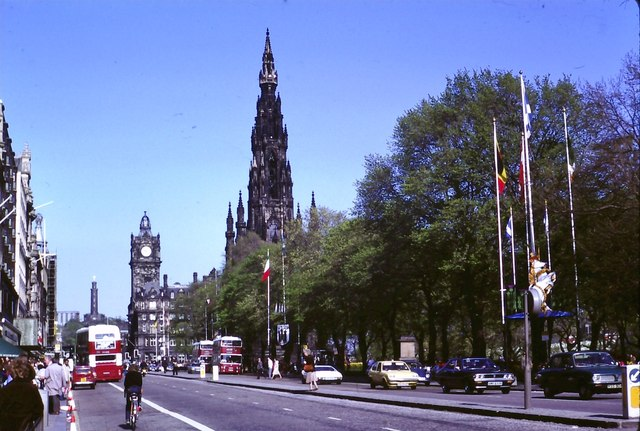 East End of Princes Street from Hanover Street