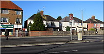 ST3090 : Semi-detached houses near Malpas post office, Newport by Jaggery