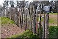SO9479 : Fencing alongside the Cross Dyke, Walton Hill by Phil Champion