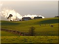 NY6527 : Pastures and cottages, Kirkby Thore by Andrew Smith