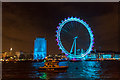 TQ3079 : London Eye in Pale Blue and Purple, London SE1 by Christine Matthews