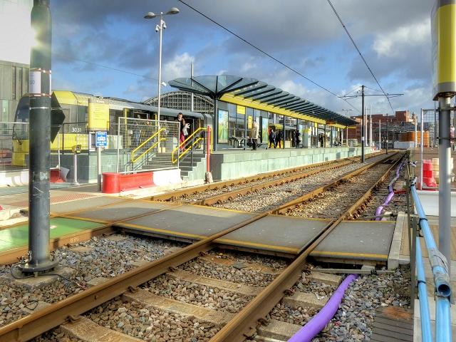 Metrolink, Deansgate-Castlefield (Jan 2015)