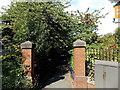 SJ8478 : Path to Alderley Edge railway station by Jaggery