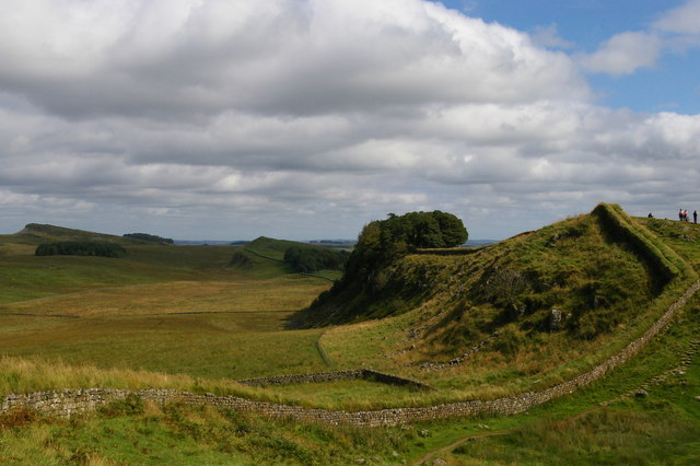 Hadrian's Wall: view east towards Housesteads Crags