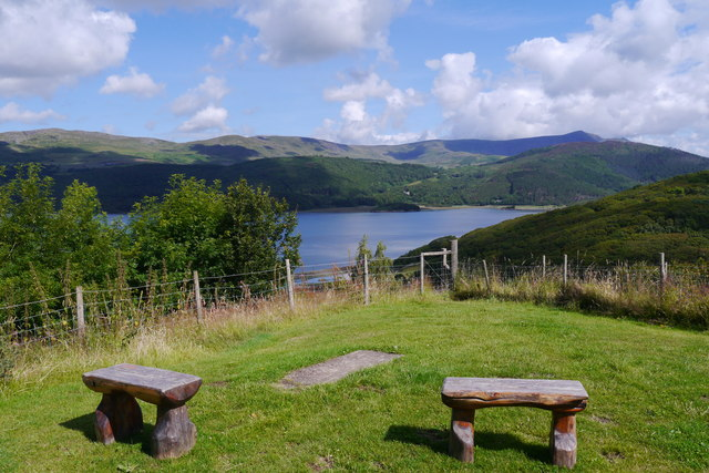 View across the Mawddach Estuary from the touring site at Graig Wen