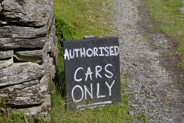 Authorised cars only