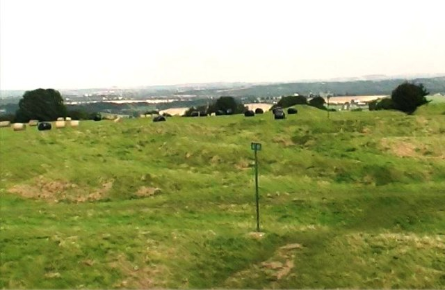 Earthworks on the Hill of Tara