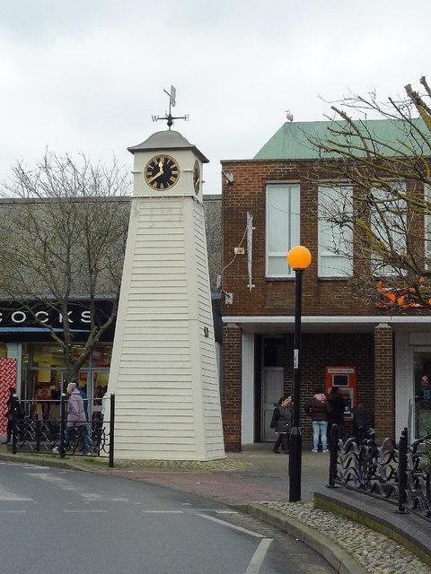 Millennium Clock Tower in Littlehampton, West Sussex