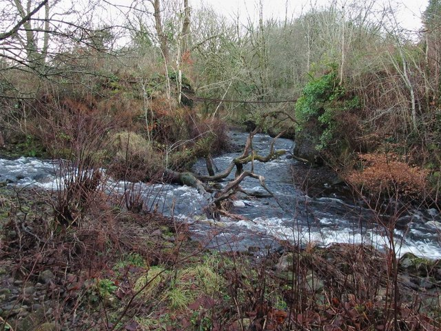 Confluence of River Amman and Nant Garw
