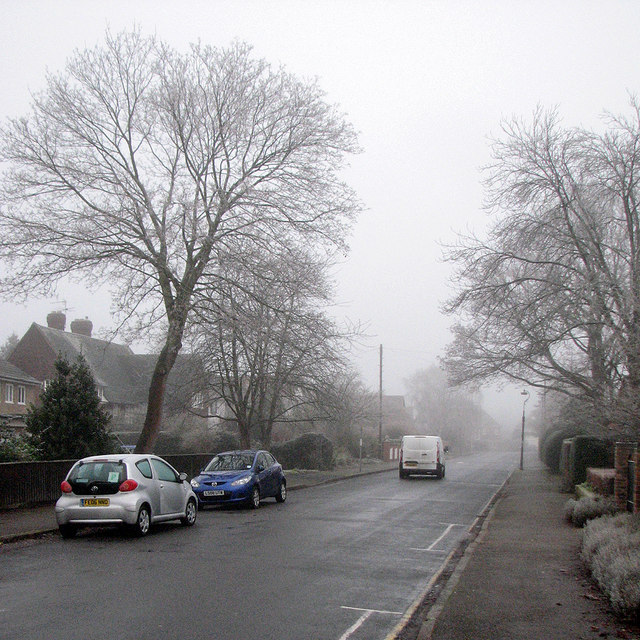 Sedley Taylor Road: frost and fog