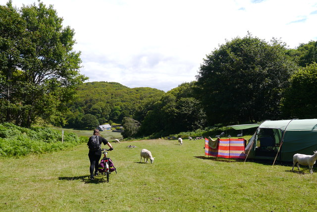 The estuary camping field at Graig Wen
