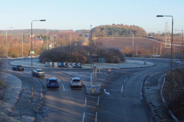 A614/Longdale Lane/Whinbush Lane Roundabout, Notts.