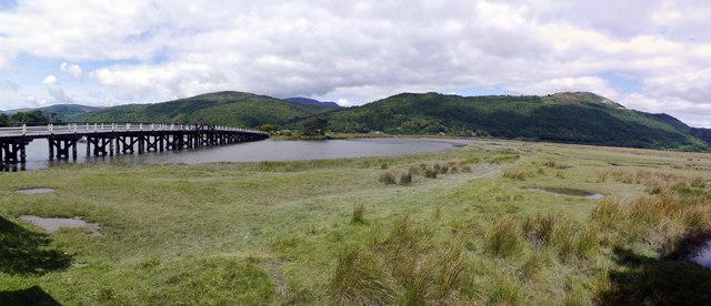 The Afon Mawddach upstream of Penmaenpool Bridge