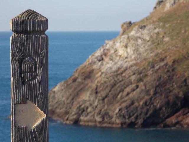 Trevose Head: a South West Coast Path... © Chris Downer cc-by-sa ...