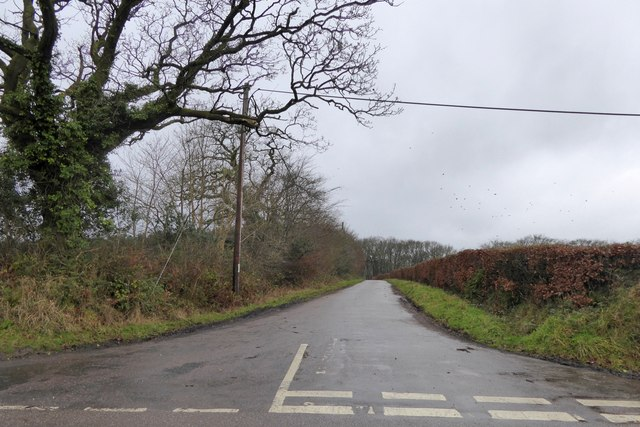 Road west of Burnthouse Cross