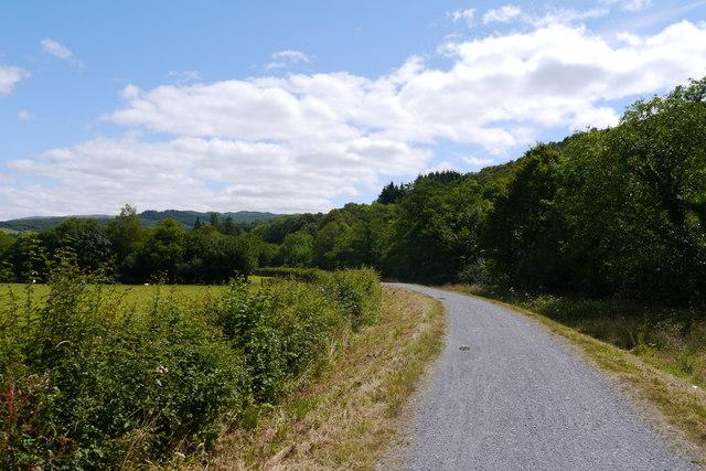 The Mawddach Trail alongside the Afon Wnion