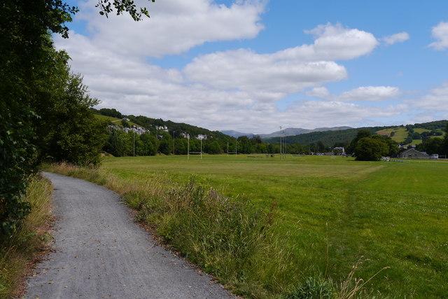 The Mawddach Trail approaching Dolgellau town centre