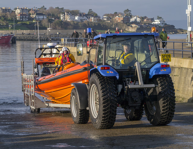 Bangor Lifeboat and tractor