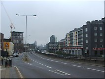 TQ3882 : Blackwall Tunnel Northern Approach, Bromley-by-Bow by Chris Whippet