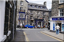 SH7217 : Boots Pharmacy and the Royal Ship Hotel, Dolgellau town centre by Phil Champion