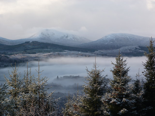 A misty view of Loch Garry from the A87