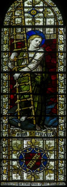 St Perpetua, Stained glass window, Christ church, St Leonards
