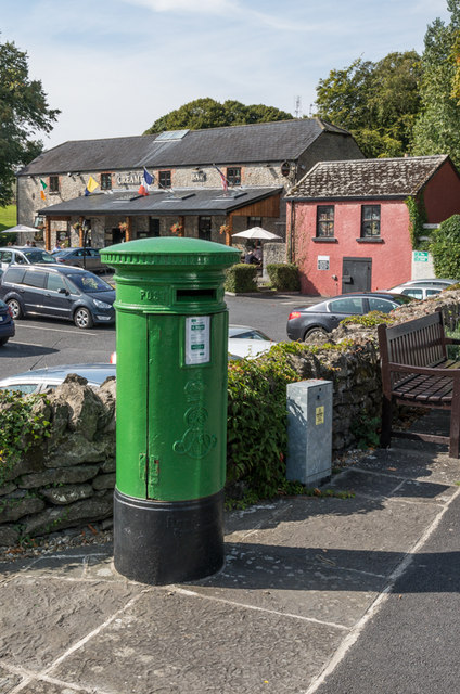Edwardian post box and the Creamery Bar