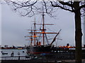 "SU6200 : HMS ""Warrior"" from The Hard, Portsmouth by Ruth Sharville"