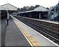 SU4730 : Winchester railway station platform canopies by Jaggery