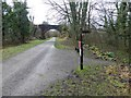 SK1572 : Footpath signpost to Litton Mill from the Monsal Trail by Steve  Fareham