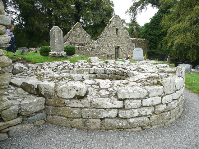 Base of a round tower at St Mullin's