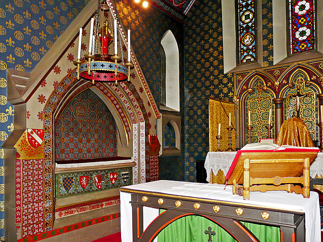 Corner of the chancel, Our Lady & St Wilfrid's Church