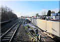 SO9669 : Bromsgrove Station Works From Platform Level January 2015 by Roy Hughes