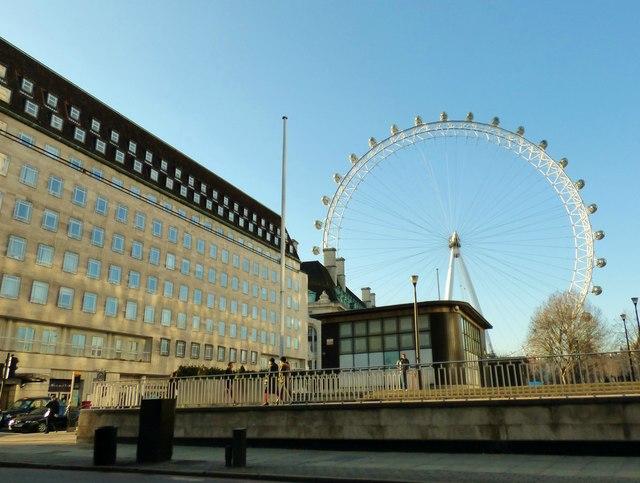 London Eye through Jubilee Gardens