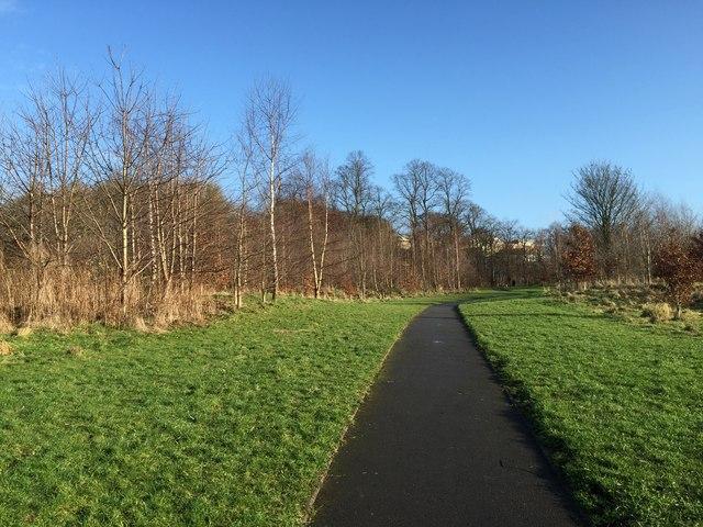 Lyme Valley Park: footpath