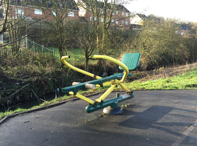 Lyme Valley Park: outdoor gym equipment