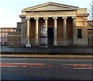 SO8455 : Queen Victoria statue in front of  the Shire Hall, Worcester by Jaggery