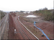 NT3271 : The Borders railway at Whitehill by M J Richardson
