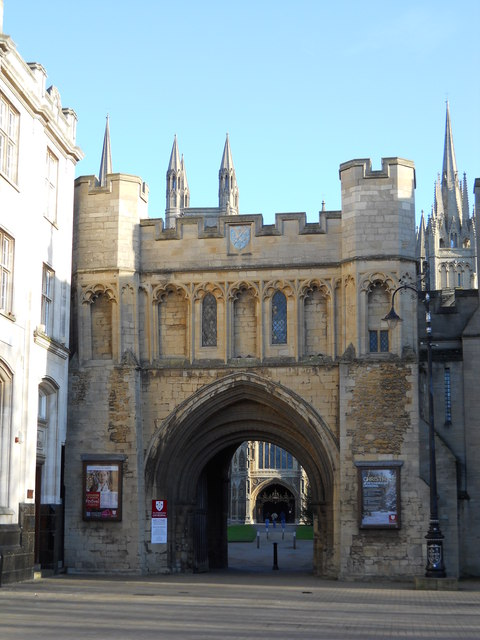 Entrance to St. Peter's Cathedral, Peterborough