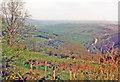 SX4172 : Chilsworthy, 1987: over Tamar Valley towards Launceston by Ben Brooksbank